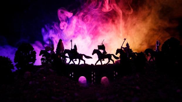 chinese warriors:horseback iStock-968631294