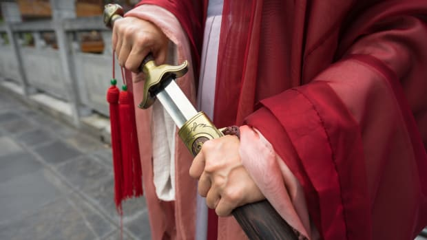 chinese sword red iStock