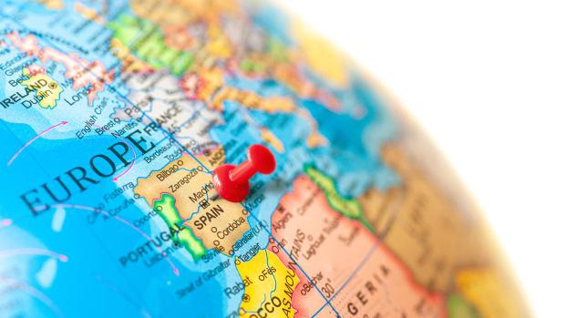 spain on globe iStock-1221434064