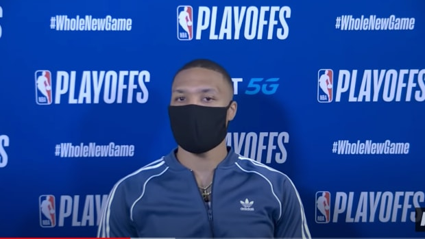 Damian Lillard postgame interview, following game 2 loss to the Lakers in the western conference playoffs.