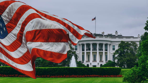 White House and Flag