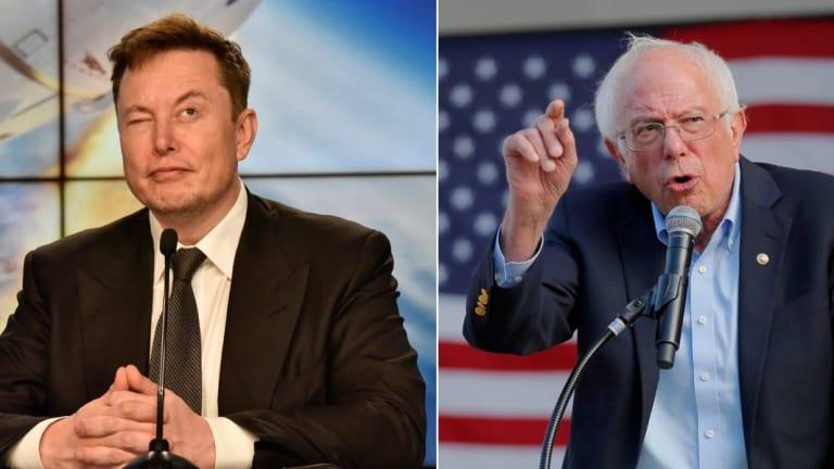 """Elon Musk Rumbles W/ Bernie Sanders & """"🌹Twitter"""" Over COVID Stimulus Debate"""