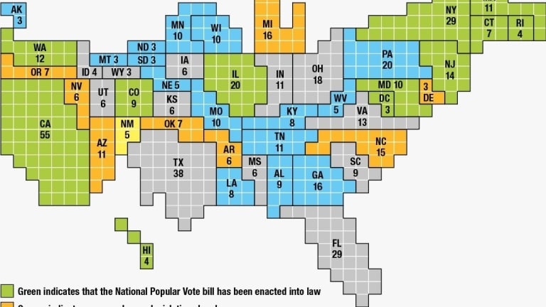 Colorado Joins 13 state pact to recalibrate Electoral College