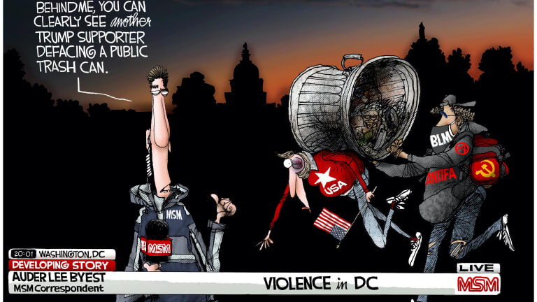 Media Bias at D.C. MAGA Protest