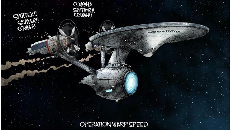 Operation Warp Speed Sputters 02-02-21