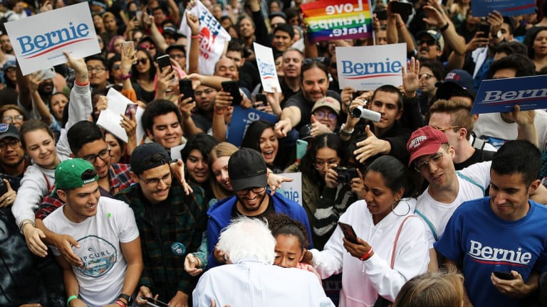 Emerson Poll: Sanders Dominates Youth Vote, Rises To 2nd In National Polling