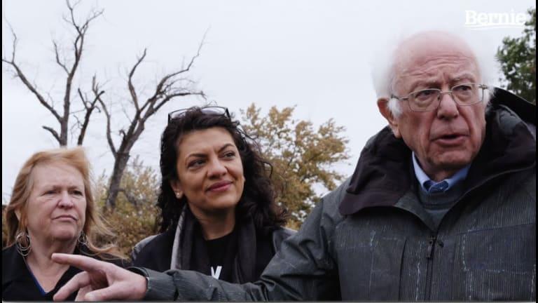 Bernie Sanders Touring Rep. Rashida Tlaib's Detroit District
