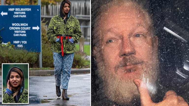 """M.I.A. visits Julian Assange in prison: """"It's about truth, fighting for truth"""