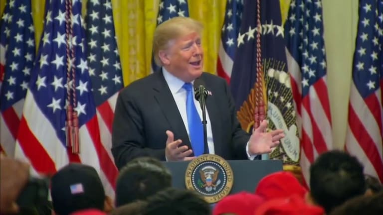 Trump Rants Like Racist Grandpa in Speech to MAGA Negroes
