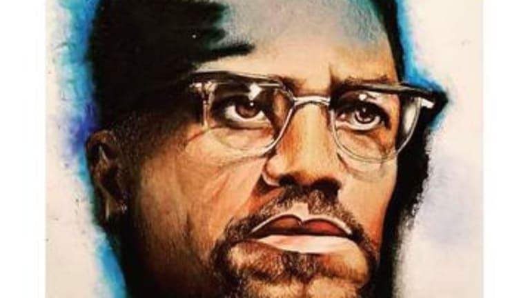 Malcolm X by Morgan Overton