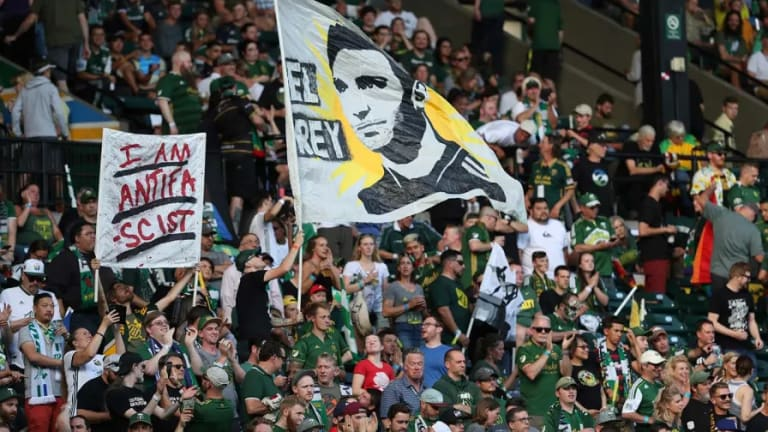 A Soccer Game Becomes an Anti-Fascist Demonstration in Portland