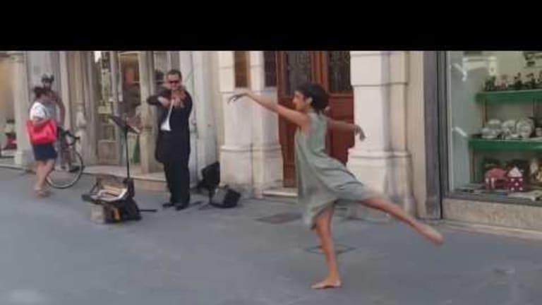 Street Musician in Italy & Ballerina From Palestine