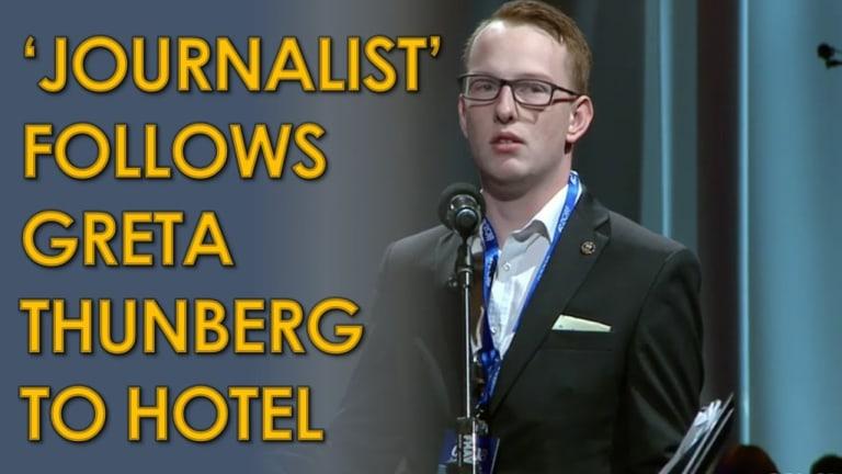 Right-Wing 'Journalist' Stalks Greta Thunberg Back to Her Hotel