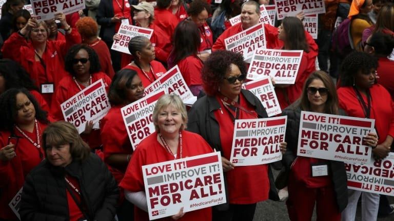 Doctors and Nurses March on AMA Meeting in Favor of Medicare for All