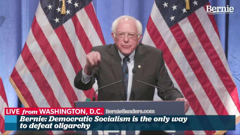 Bernie Sanders Flips the Script: Socialism isn't on trial here — Capitalism is.