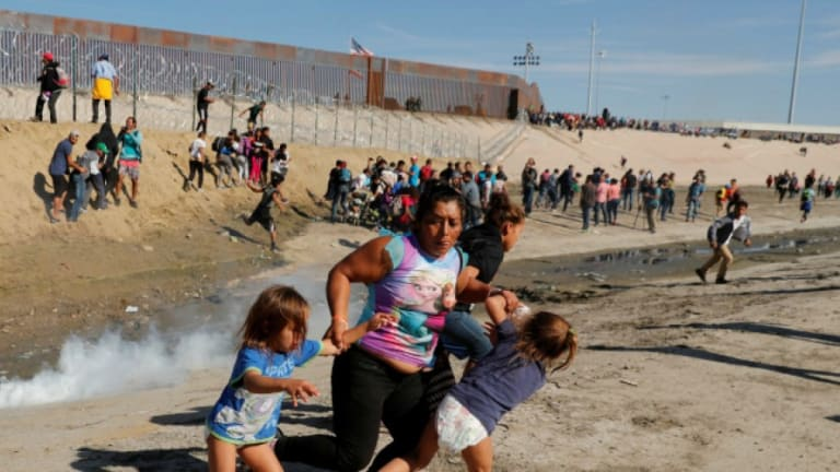 Trump Border Patrol Fires Tear Gas Into Mexico Children Screaming and Coughing