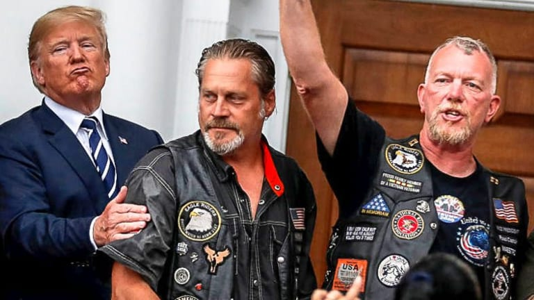 Fascism: Trump's Veiled Threat He Has 'Support of Police, Military, Biker Gangs