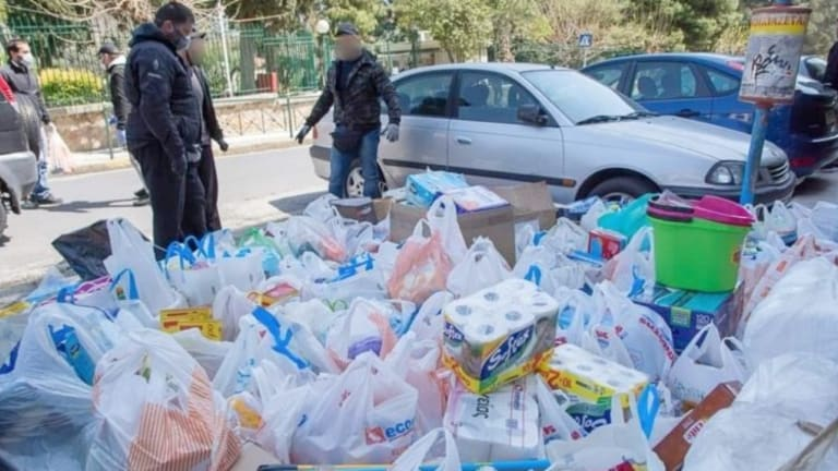 Anarchist Group Rubicon Donates Tons of Necessities to Athens Nursing Home
