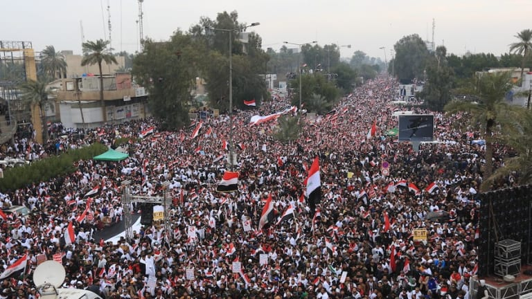 Iraqis by the Hundreds of Thousands Take To The Streets To Demand The U.S. Leave