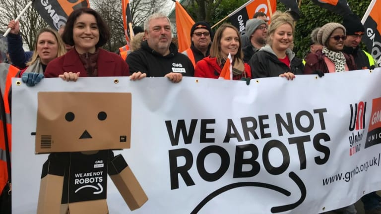 'We Are Not Robots': Amazon Workers Across Europe Walk Out on Black Friday