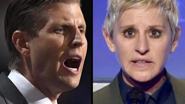Eric Trump Seems To Believe Ellen Degeneres is Running a Shadow Government
