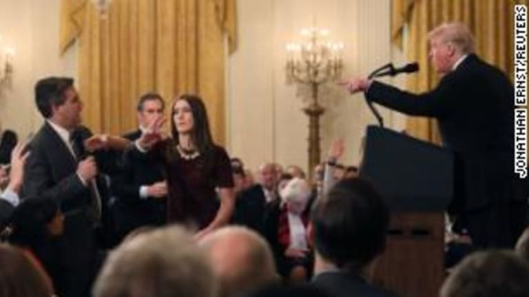 The entire White House press corps should walk out and stop indulging this bully