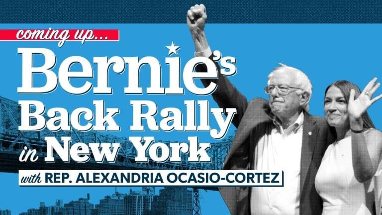 Full Bernie Sanders New York Rally: #AOC and Michael Moore Endorsements