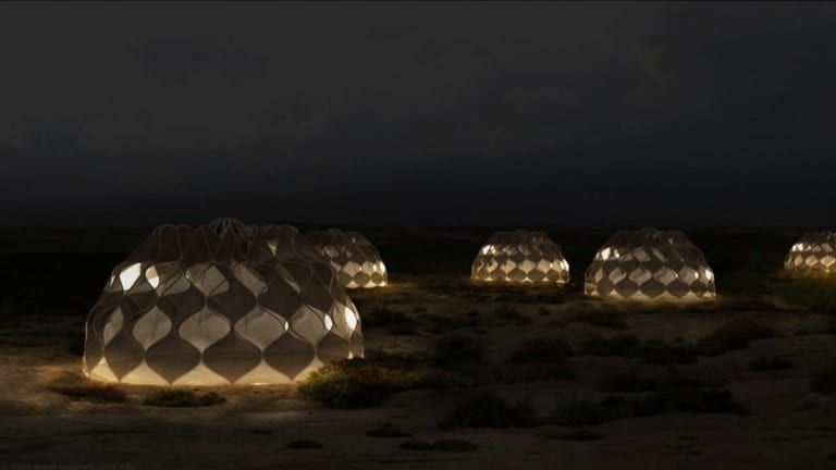 Art as Humanitarian Support: Artist Creates Life Sustaining Refugee Tents