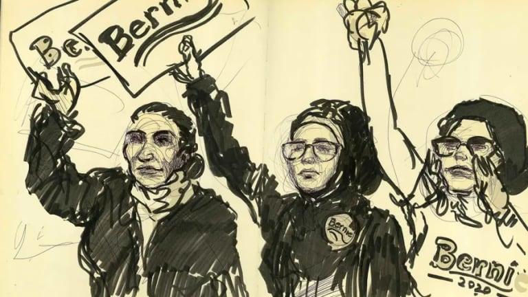 Bernie's Michigan Campaign Sketchbook By Molly Crabapple