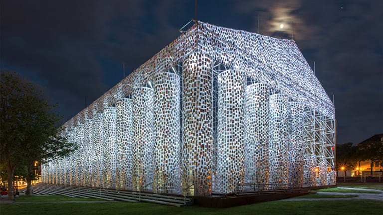 Parthenon Built With 100,000 Banned Books