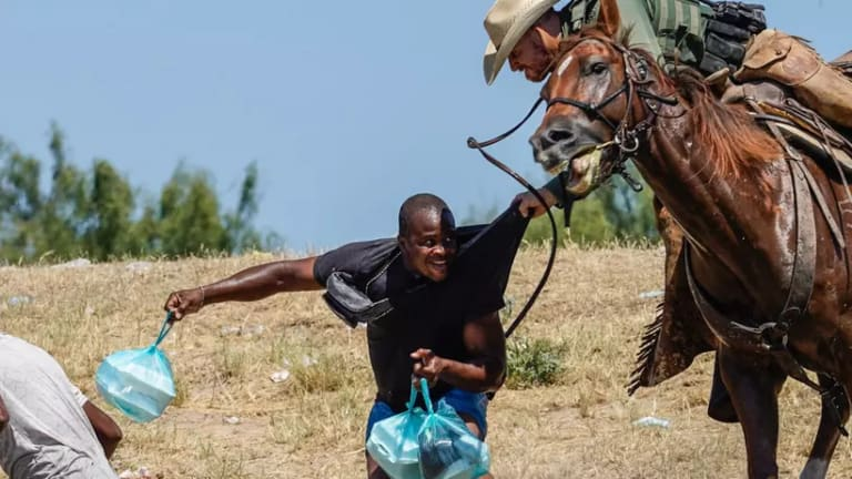 Border Patrol Literally Cracking Whips on Haitian Refugees
