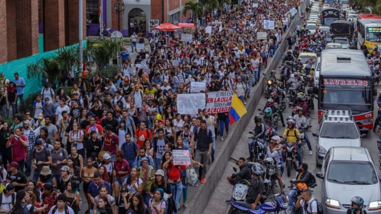 Columbian Workers Take to the Streets
