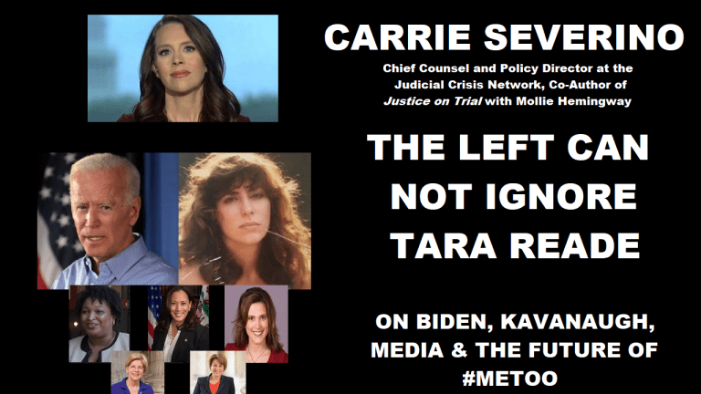The Left Cannot Ignore Tara Reade - Carrie Severino