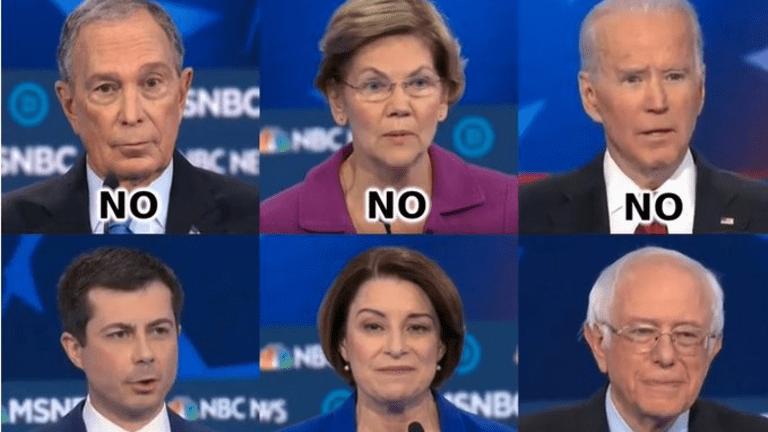 Only Bernie Sanders Stood For Democracy Last Night