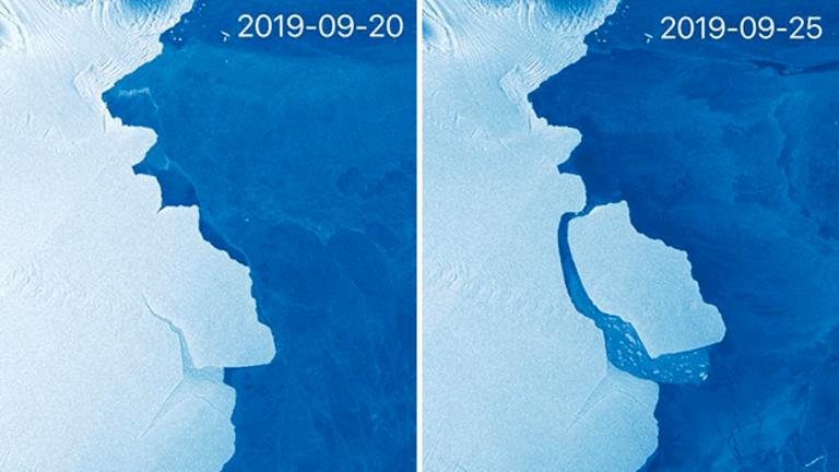 315 billion-ton iceberg breaks off Antarctica