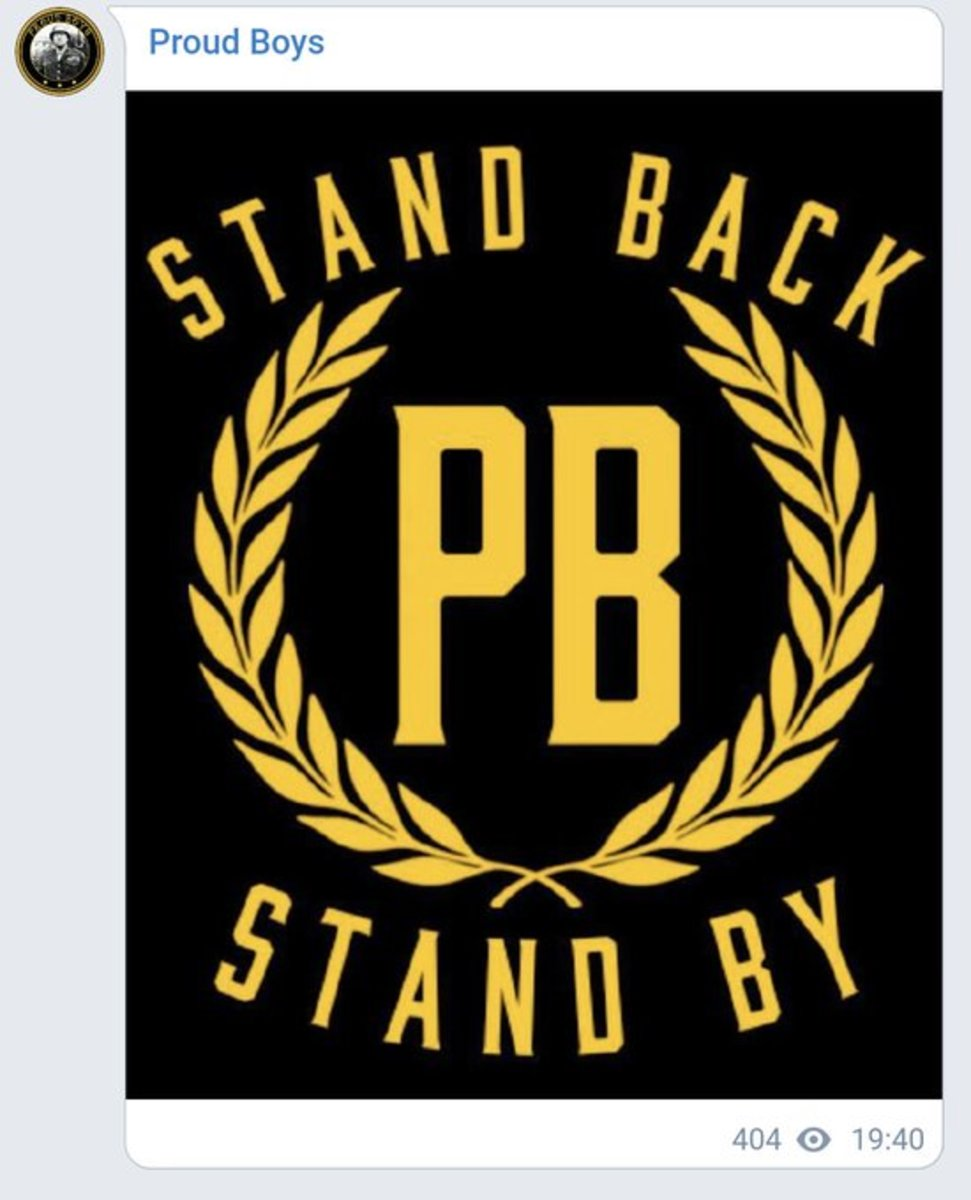 the Proud Boys just made Trump's encouraging words for them -- uttered during a national televised debate -- into a graphic with their logo